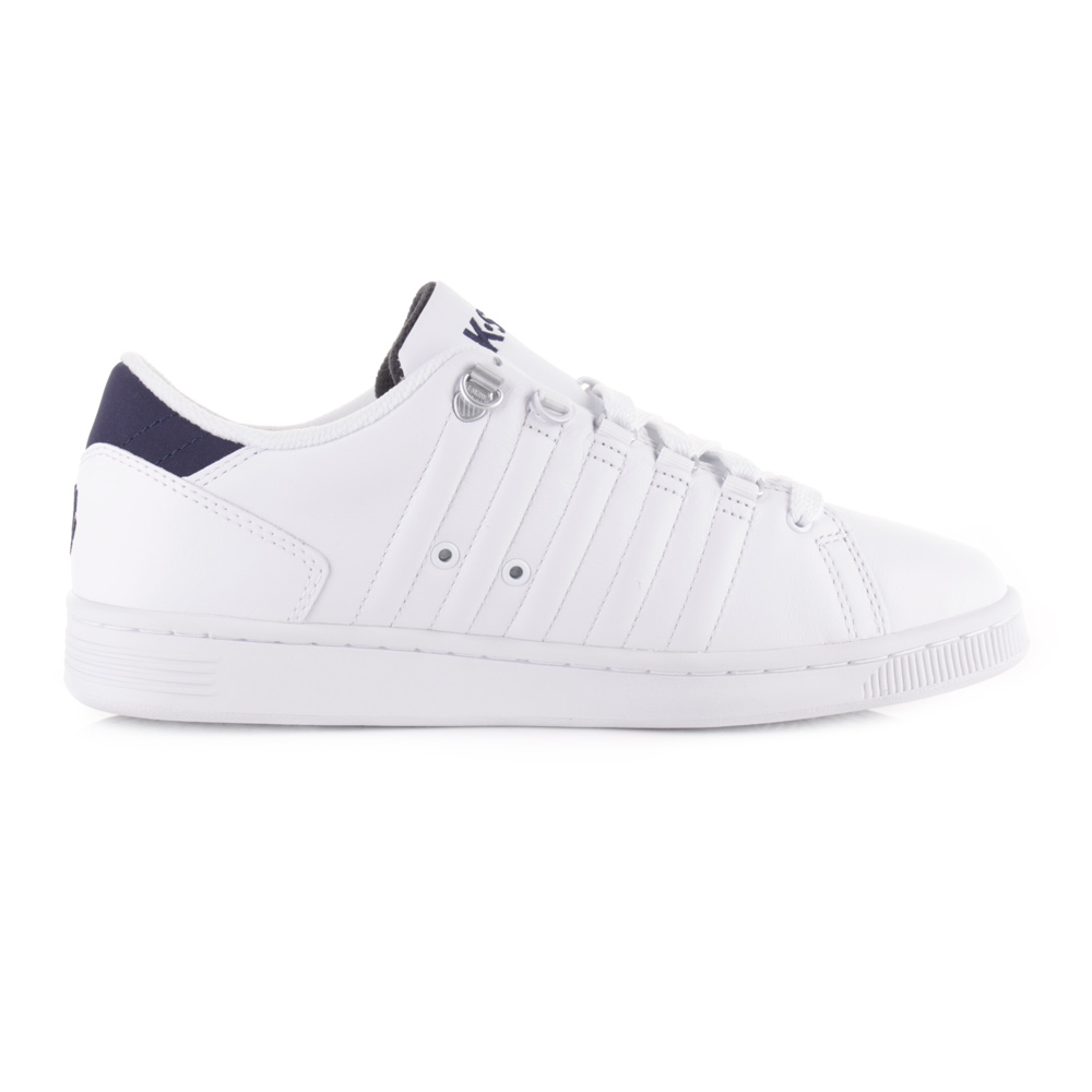 Mens K-Swiss Lozan Iii White Navy Lace Up Casual Leather Tra