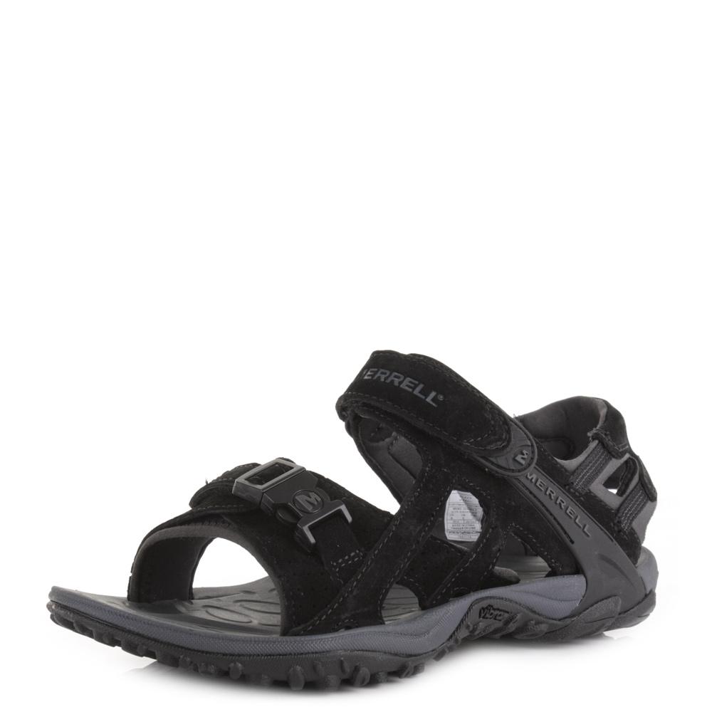 Mens Merrell Kahuna 3 Black Suede Activity Outdoor Trekking Sandals Size | eBay