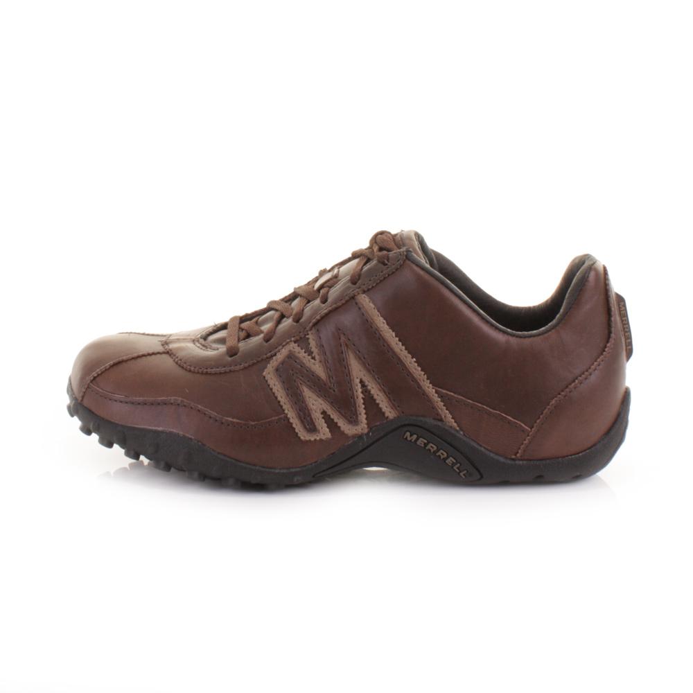mens merrell sprint blast espresso brown leather trail