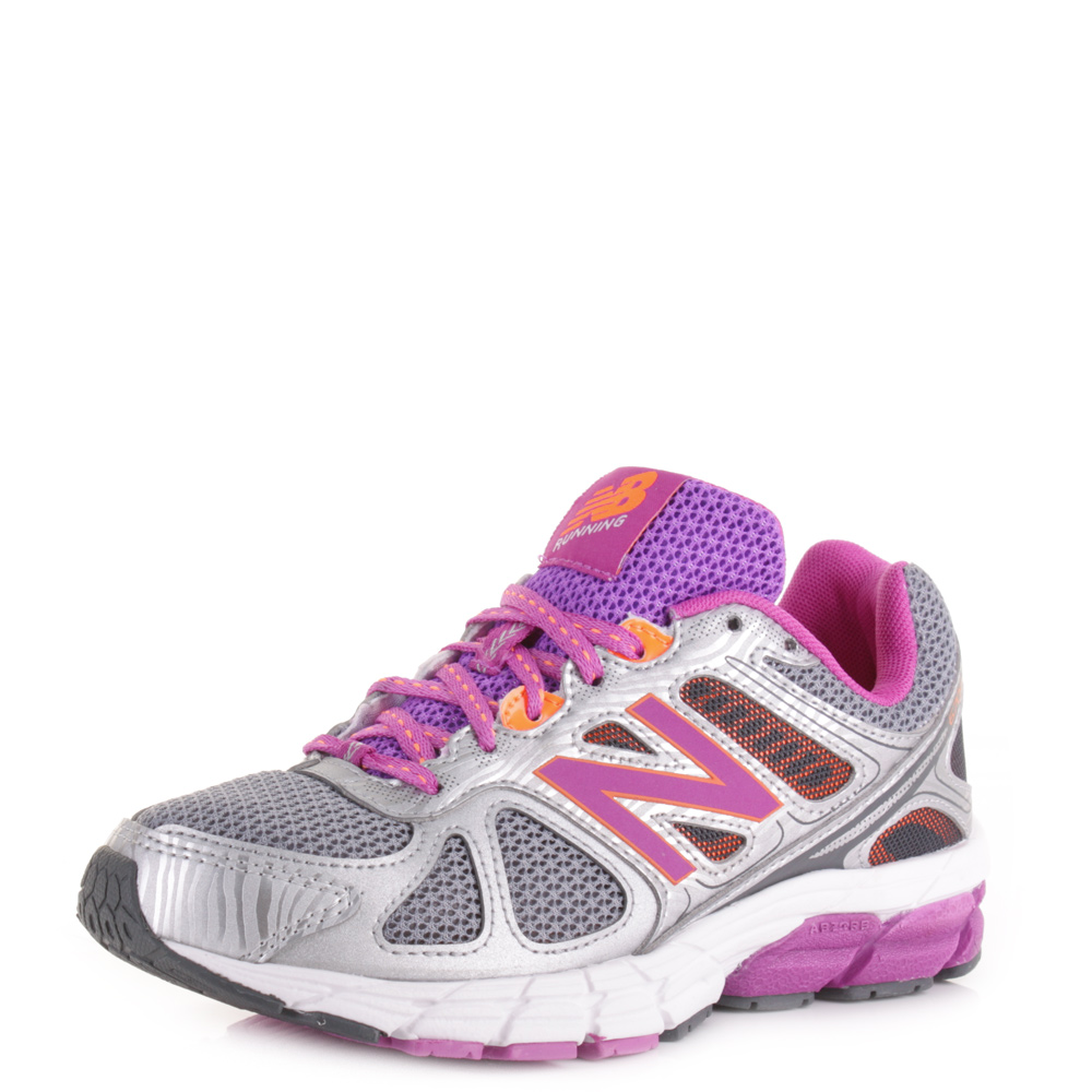 Womens New Balance 670V1 Silver Purple Road Running Shoes Trainers Size