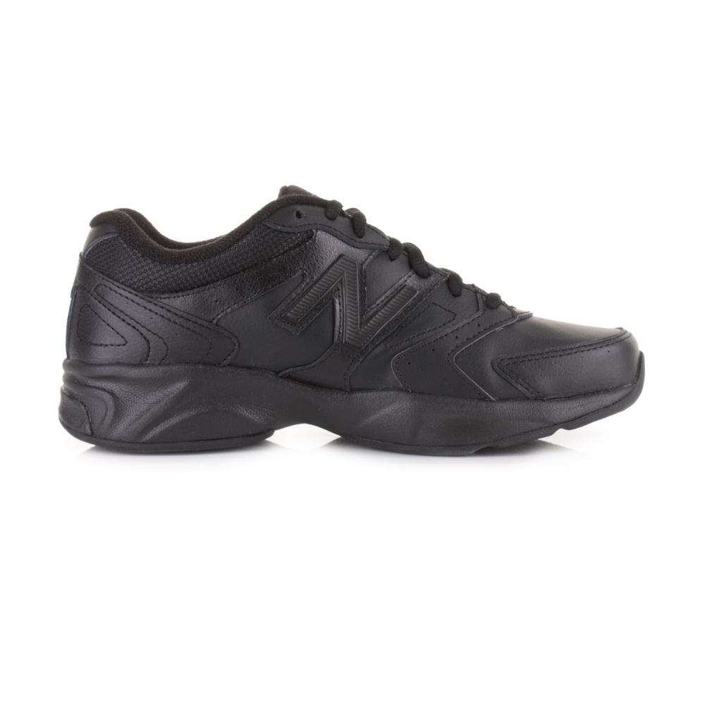 WOMENS NEW BALANCE 624V3 ALL BLACK SPORTS RUNNING LEATHER TRAINERS SHOES SIZE
