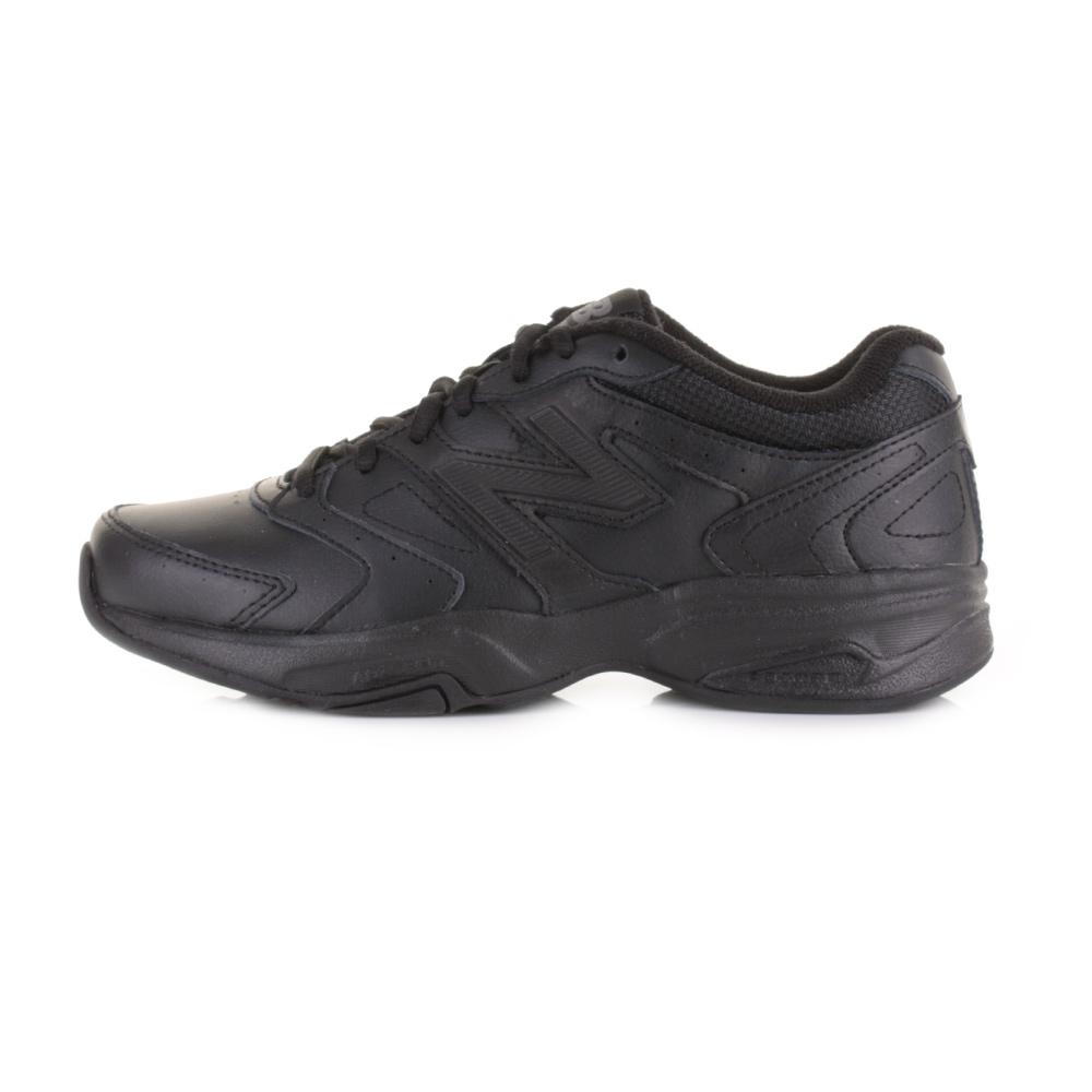 womens new balance 624v3 all black sports running leather. Black Bedroom Furniture Sets. Home Design Ideas