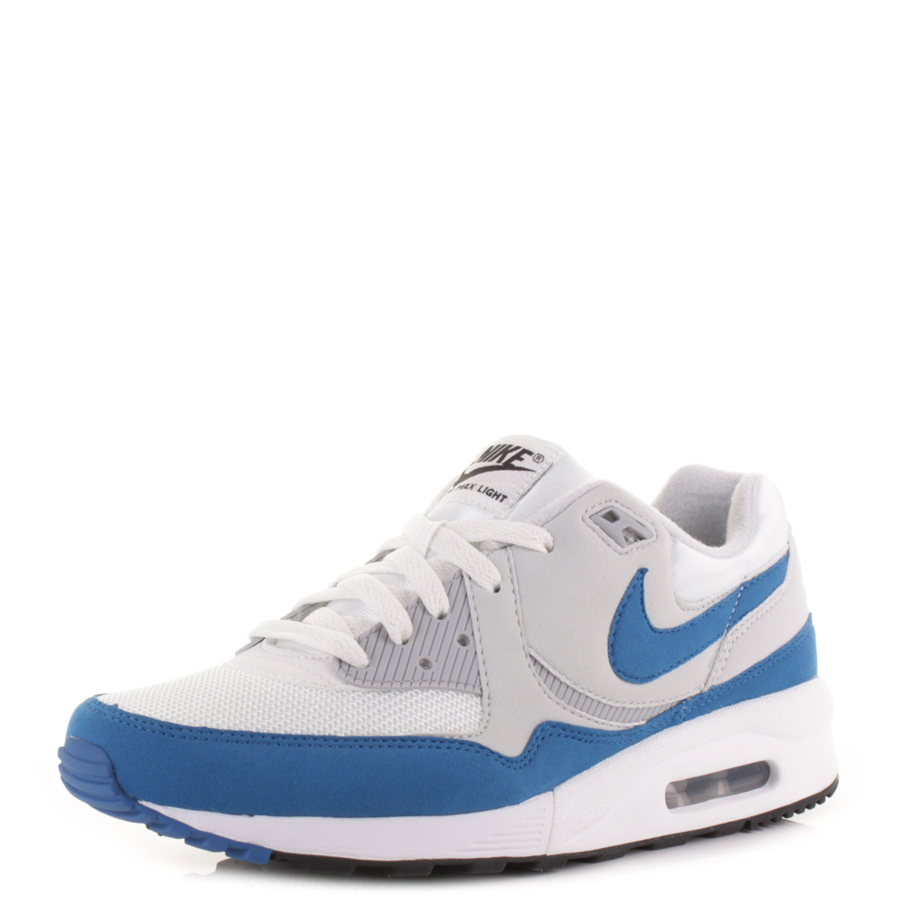 mens nike air max light essential blue white trainers shoes size ebay. Black Bedroom Furniture Sets. Home Design Ideas