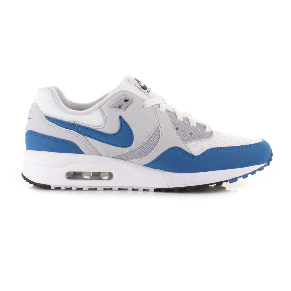 mens nike air max light essential blue white trainers. Black Bedroom Furniture Sets. Home Design Ideas