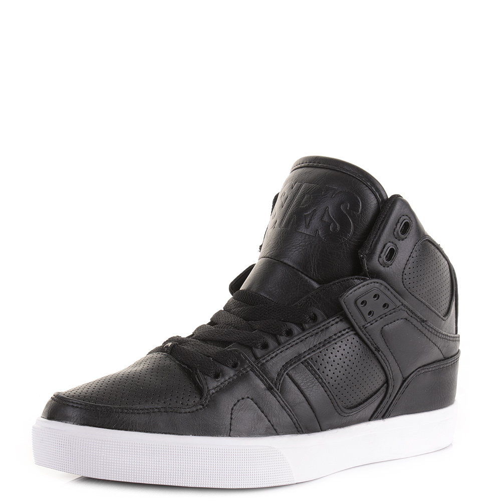 Mens Osiris Nyc 83 Black Black High Top Skate Trainers
