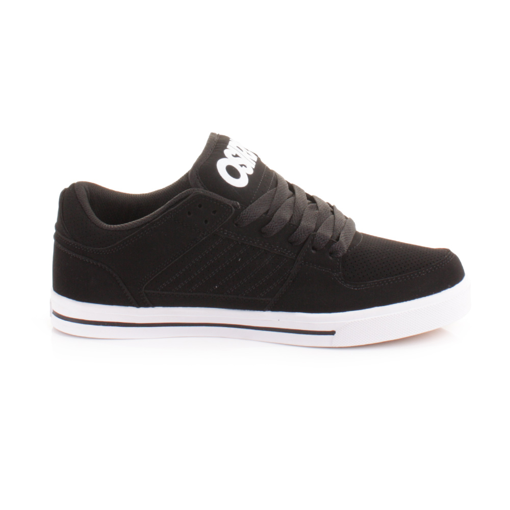 mens osiris protocol black white skate trainers shoes size