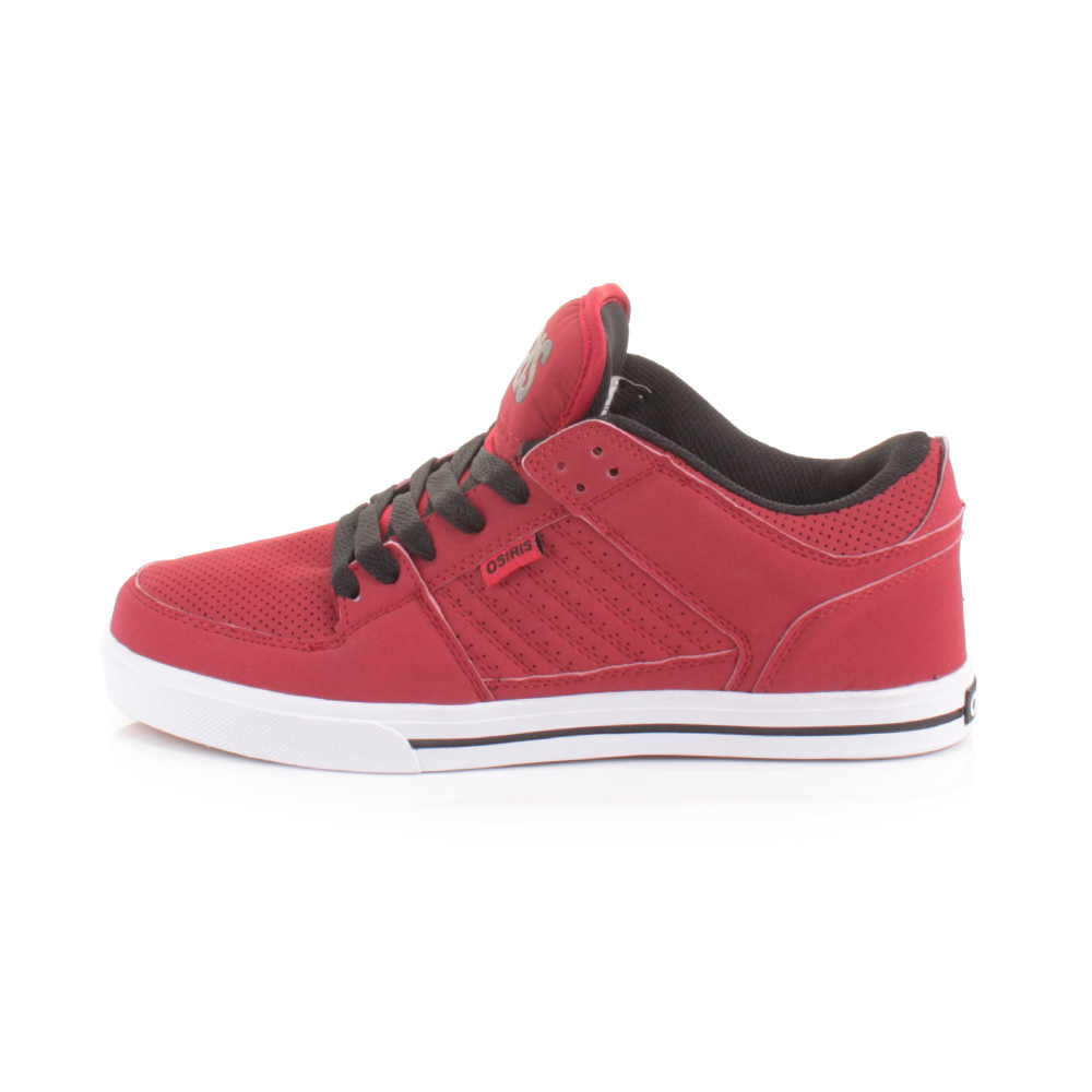 Osiris Shoes Red Black And White