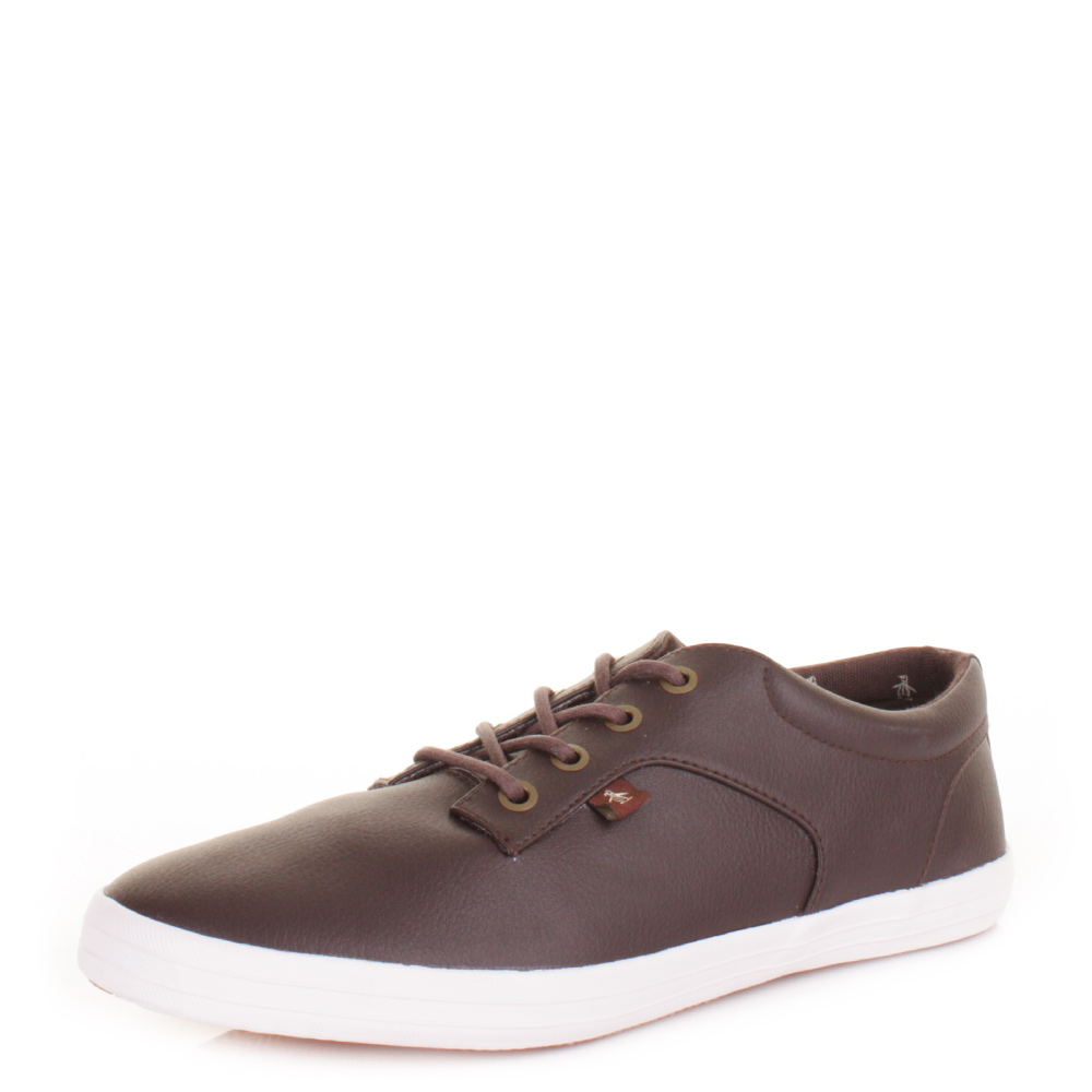 mens original penguin yale brown leather style lace up