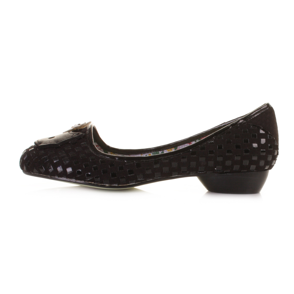 womens poetic licence peace amp quiet black leather low heel