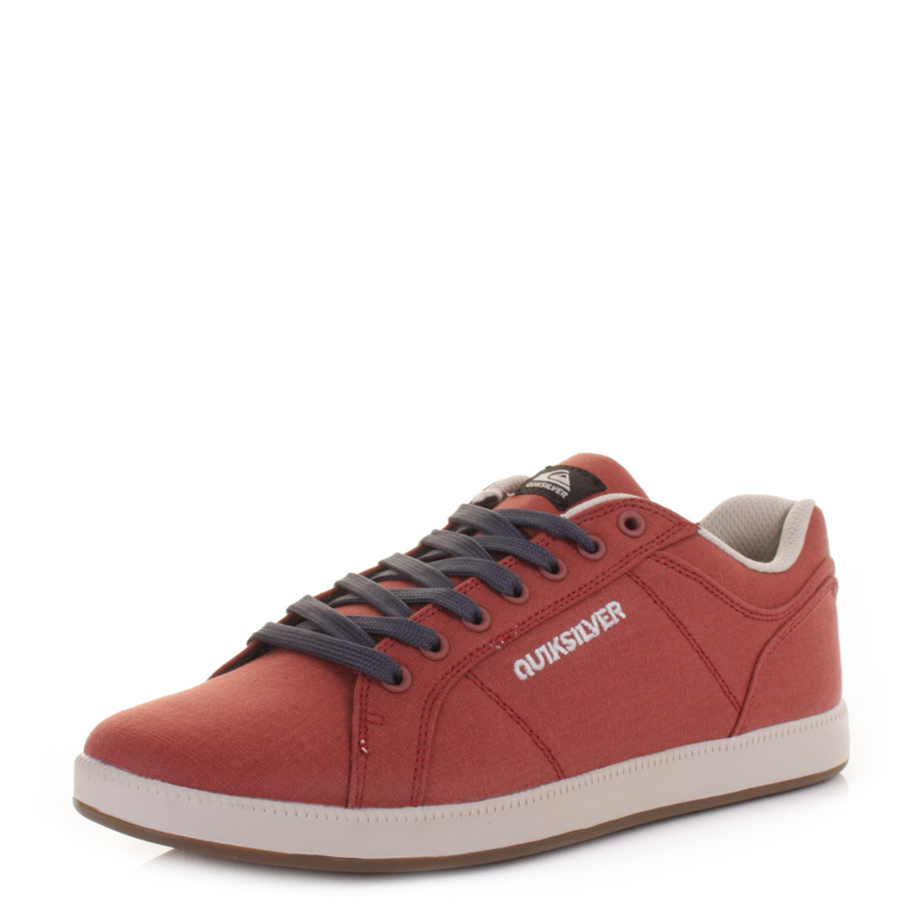 mens quiksilver area 5 canvas white brown casual