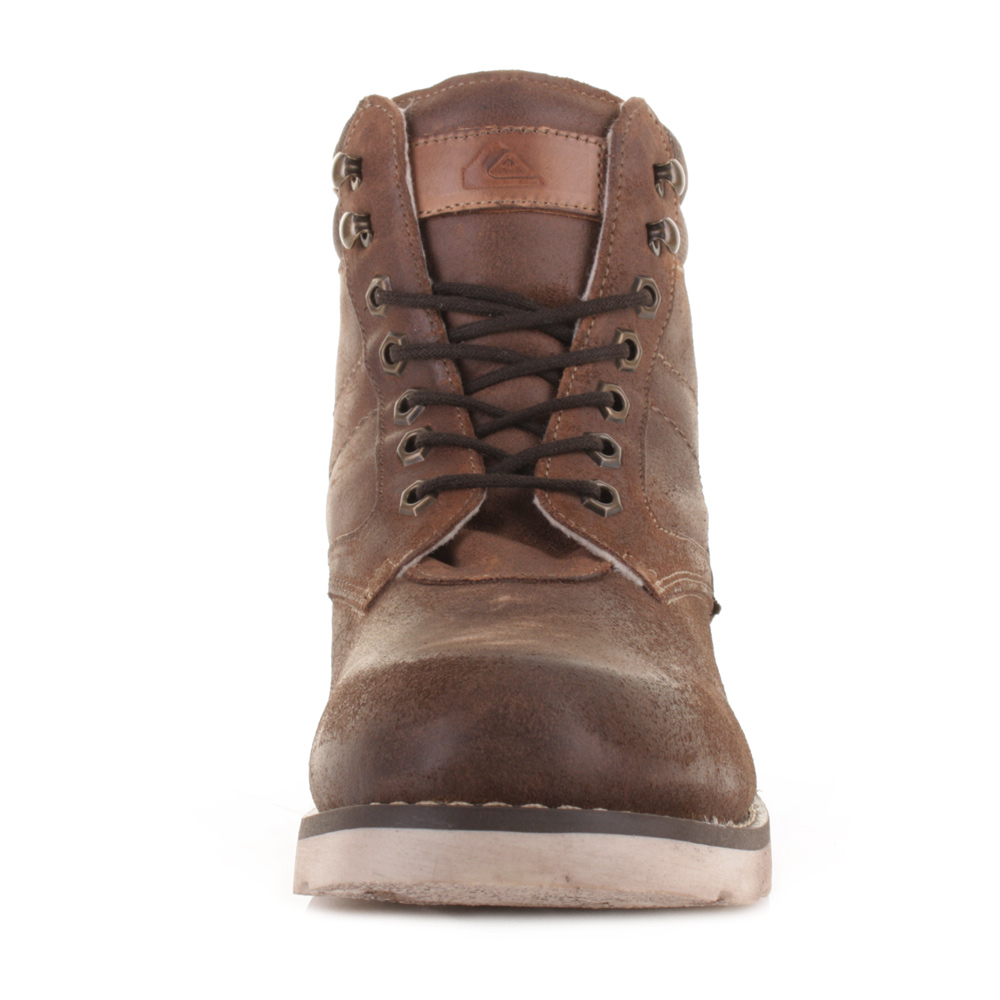 MENS QUIKSILVER DEL MAR BROWN SUEDE LEATHER FASHION OUTDOOR BOOTS ...