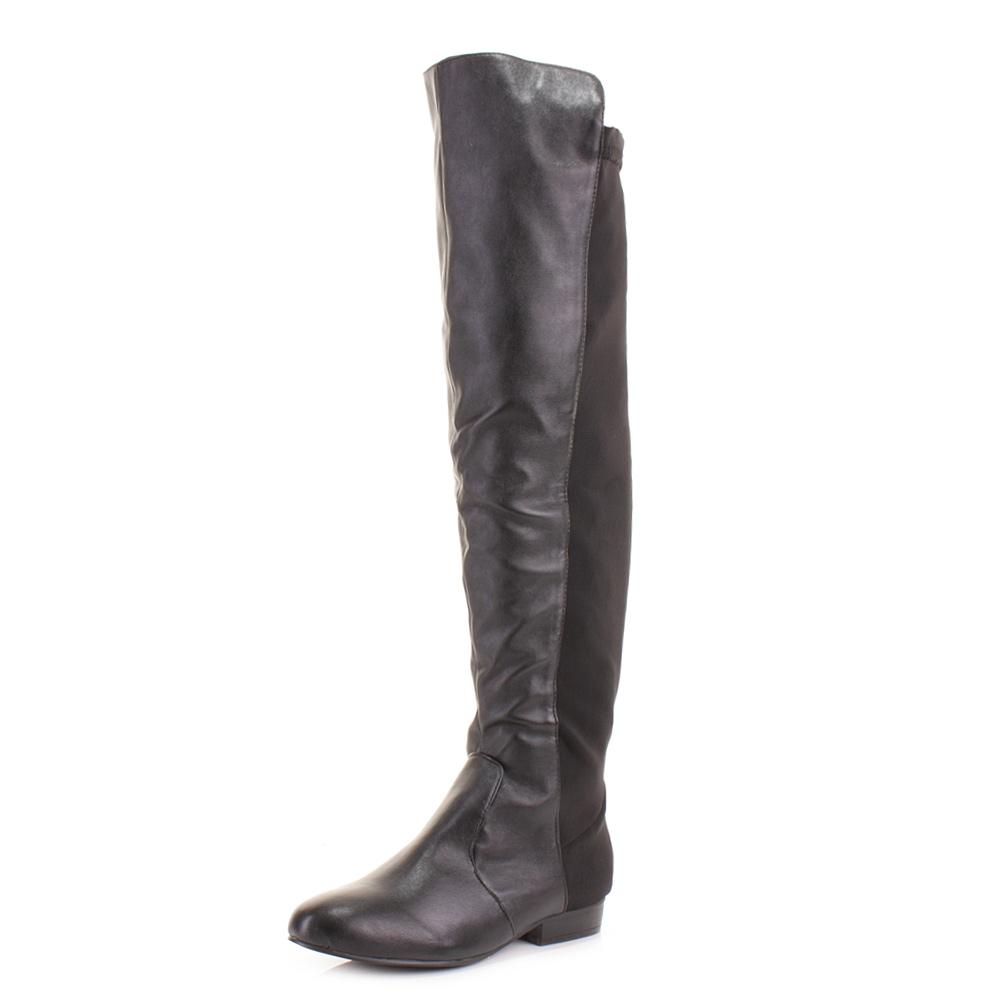 womens flat stretch wider wide fit calf knee