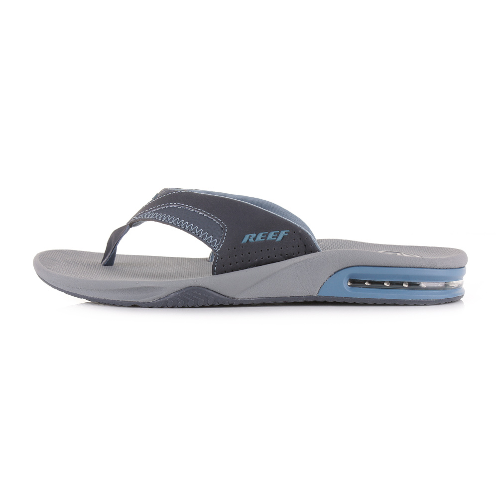 herren reef fanning grau vintage blau flip flops strand riemen sandalen gr e ebay. Black Bedroom Furniture Sets. Home Design Ideas