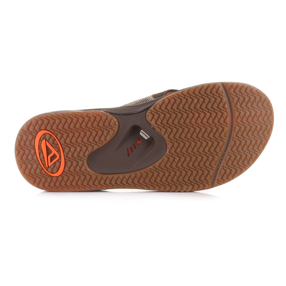 mens reef fanning prints brown camo comfort bottle opener flip flop sandals size ebay. Black Bedroom Furniture Sets. Home Design Ideas