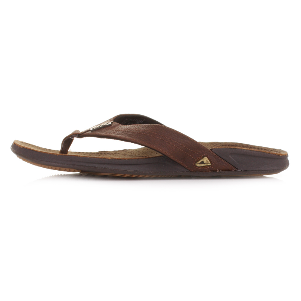 Item Description: Mens J Bay leather Flip Flops by Reef
