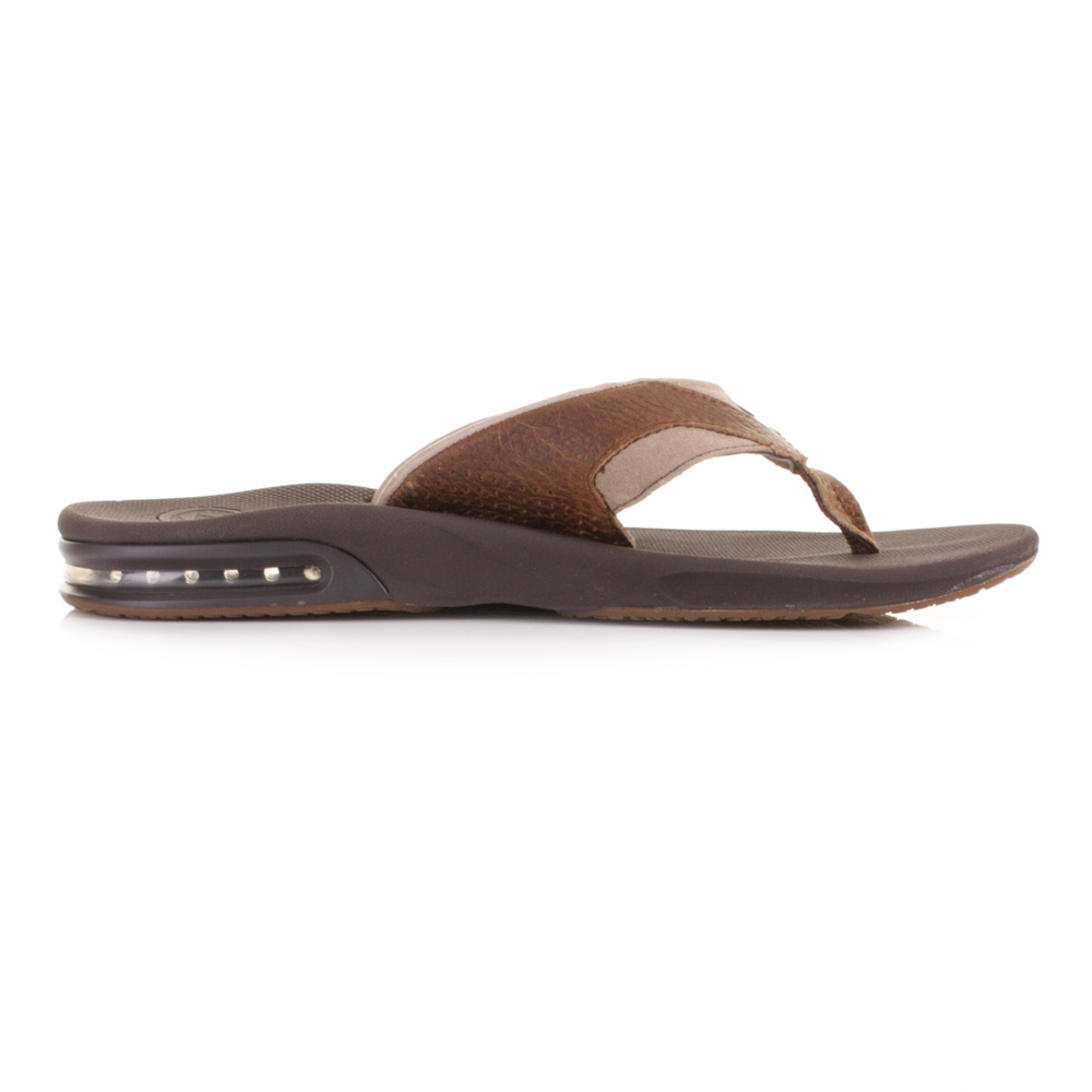 flip flops sandalen herren reef leder f cher braun gr e eu 40 46 ebay. Black Bedroom Furniture Sets. Home Design Ideas