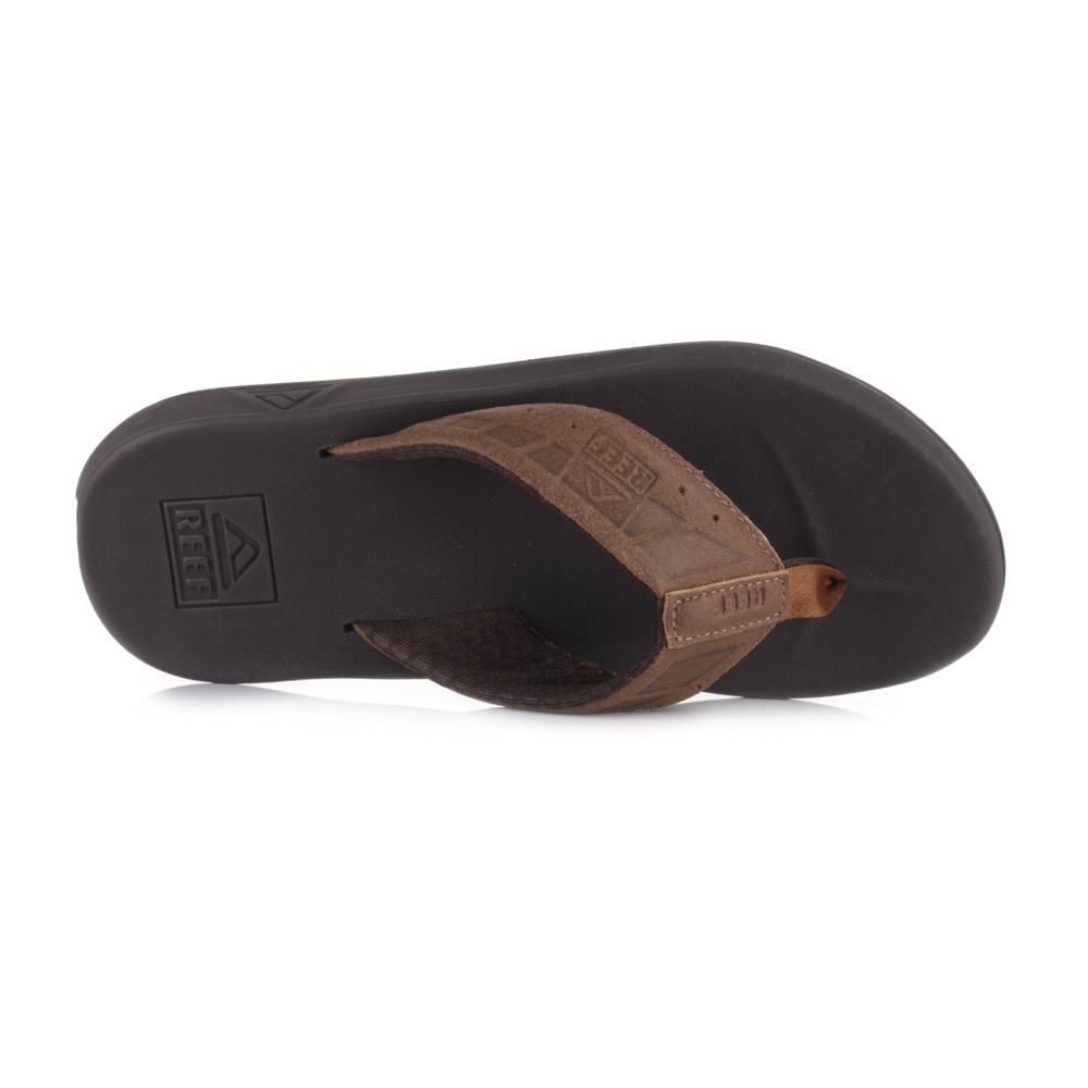 Mens Reef Phantom LE Brown Dark Brown Toe Post Thong Flip Flops Size