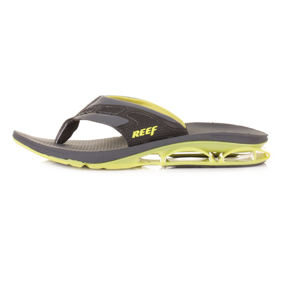mens reef x s 1 neon yellow toe post bottle opener flip flop sandals size 6 12 ebay. Black Bedroom Furniture Sets. Home Design Ideas