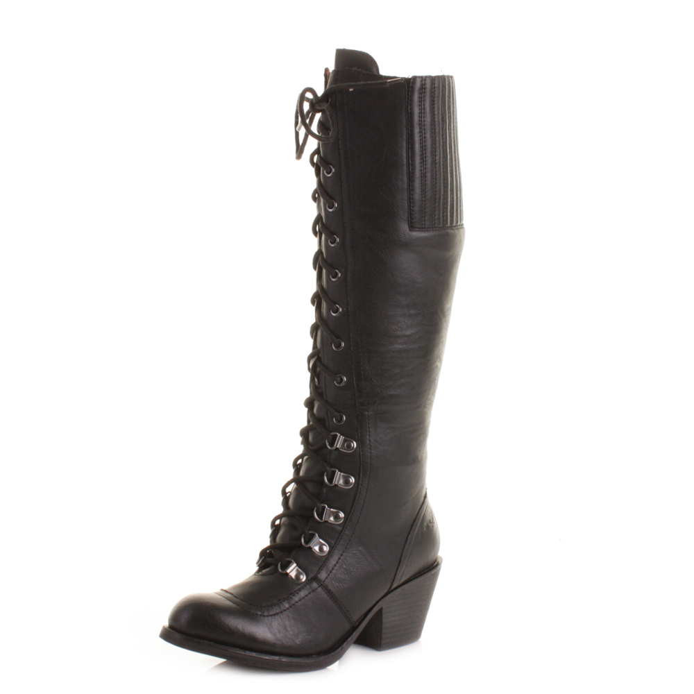 womens rocket black knee high wide calf fit