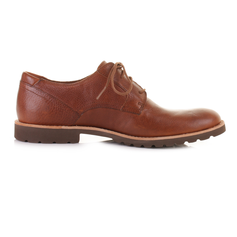 mens rockport plaintoe leather lace up smart casual