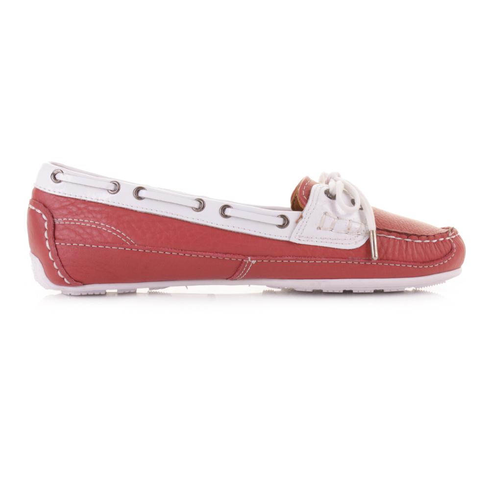 Ladies White Mocassin Shoes