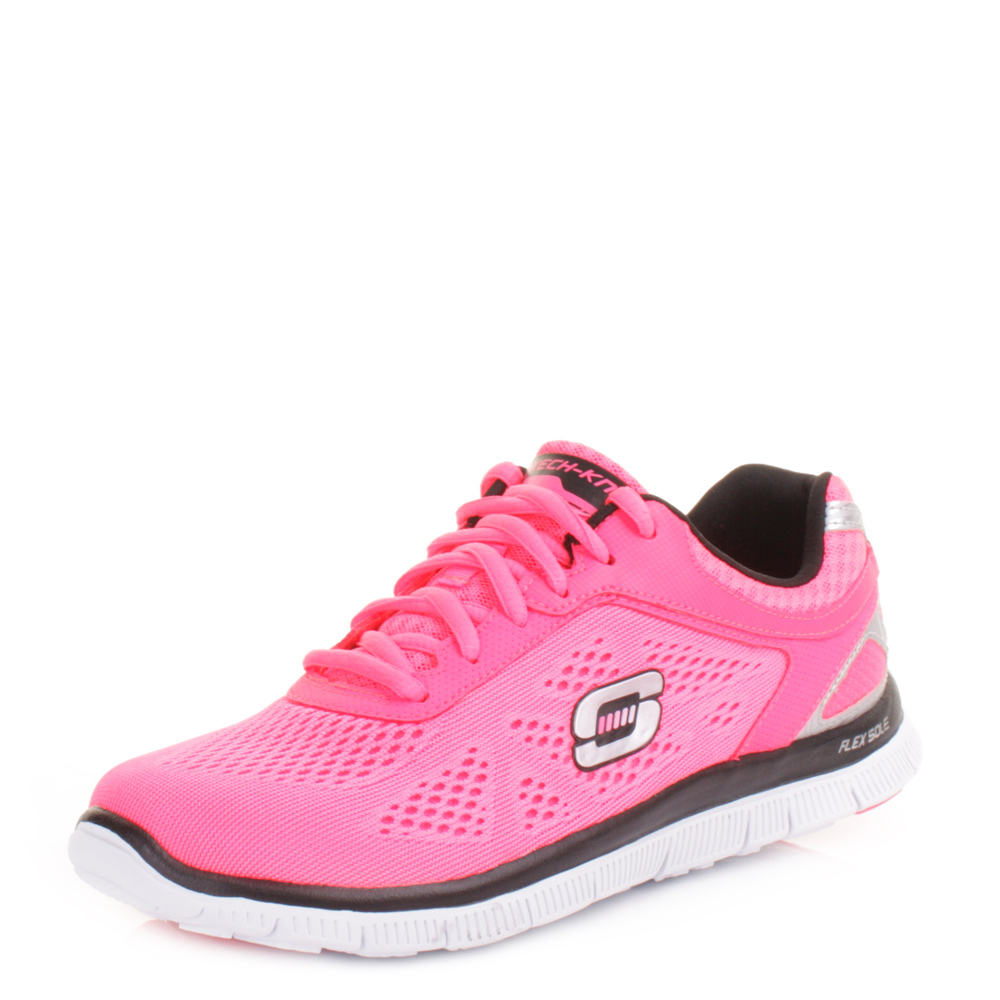 womens skechers flex appeal your style pink black