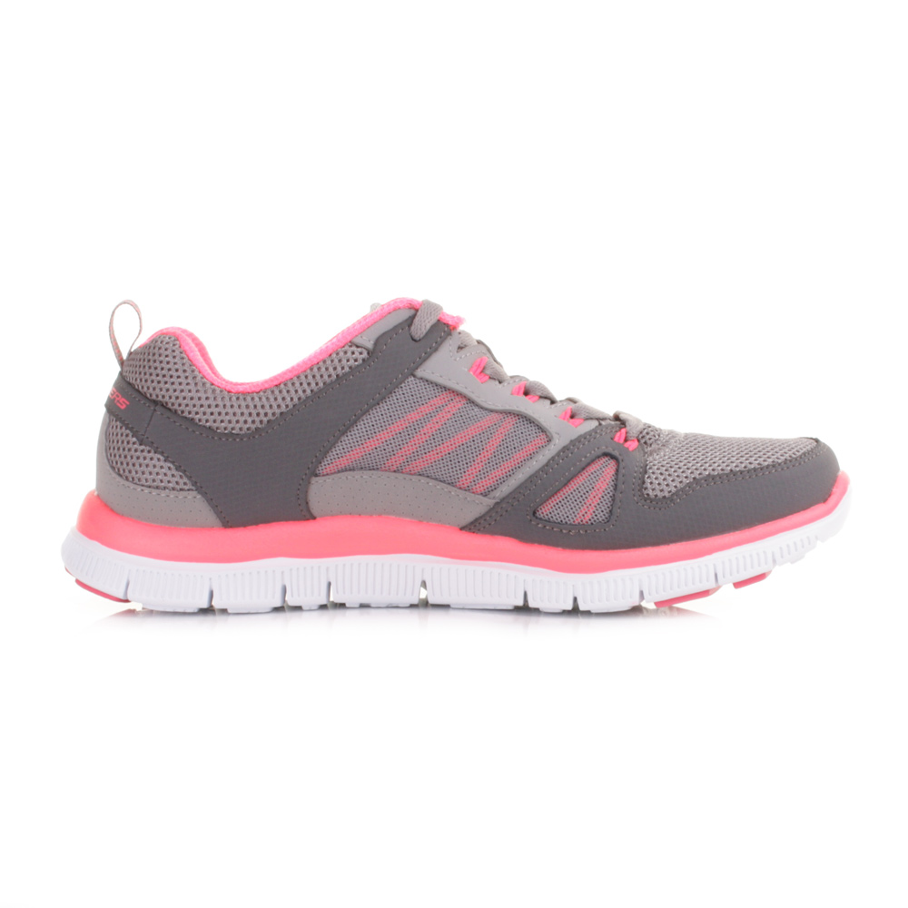 Skechers Flex Appeal Next Generation Womens Shoes Gray Pink