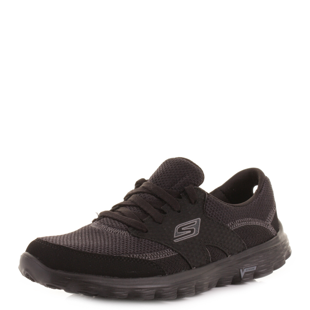 black skechers trainers ladies