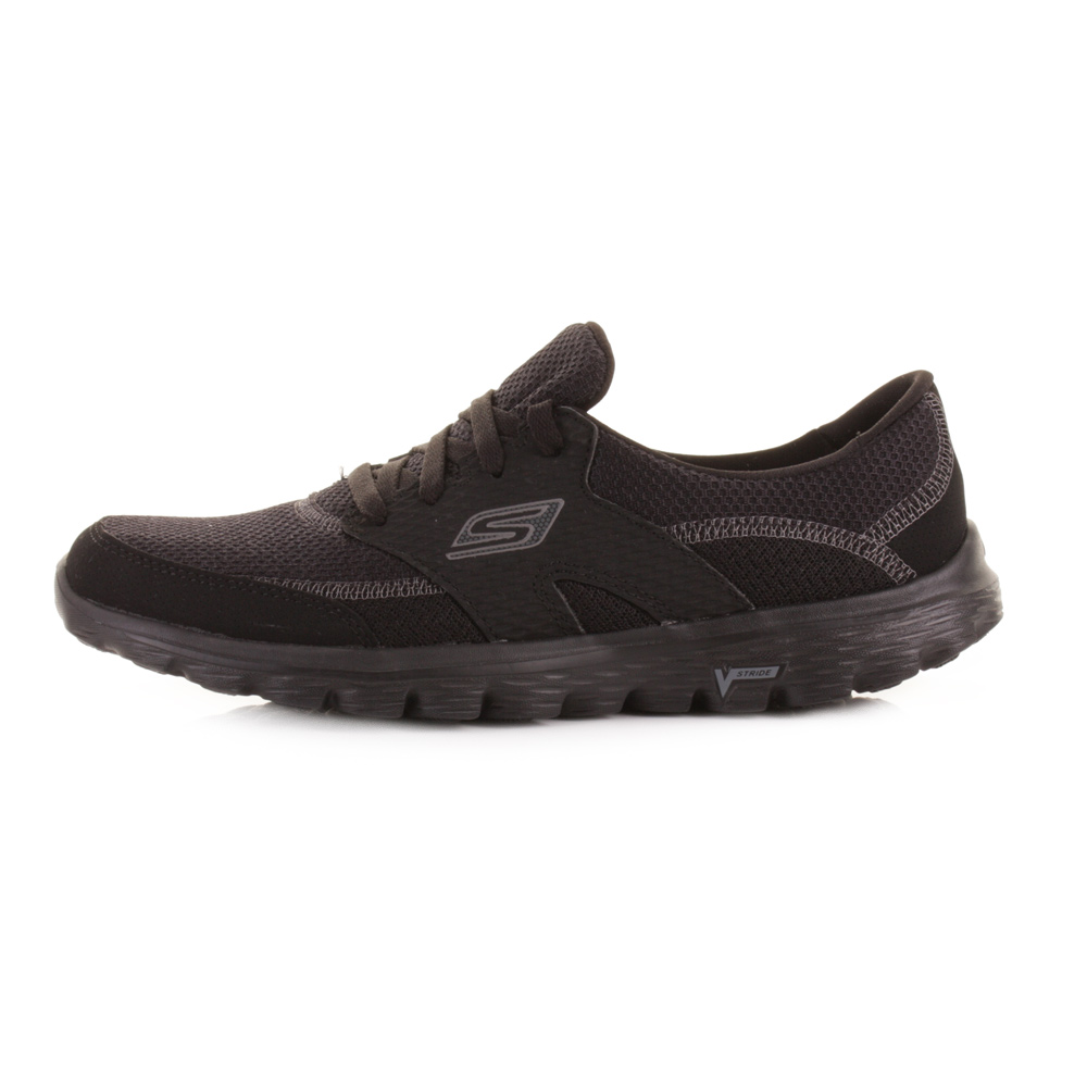 skechers go walk black womens