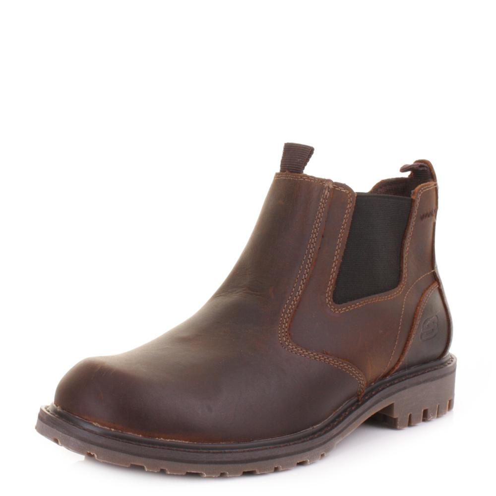Men Wearing Dark Brown  S Platform Shoes