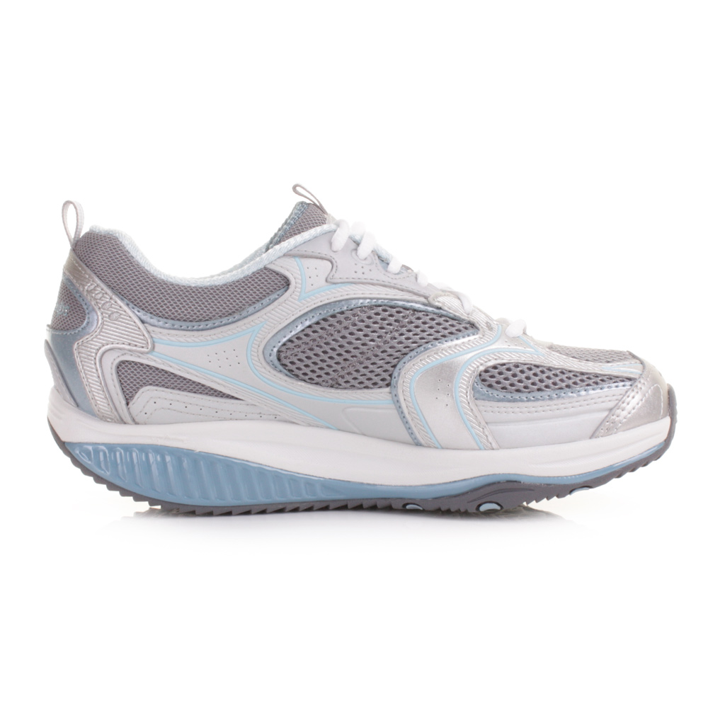 womens skechers shape up accelerator blue silver trainers. Black Bedroom Furniture Sets. Home Design Ideas