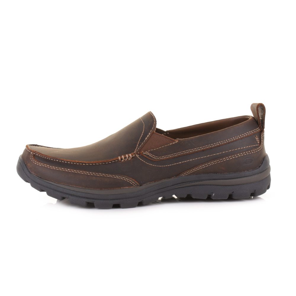 238ac0edd935 skechers relaxed fit mens brown