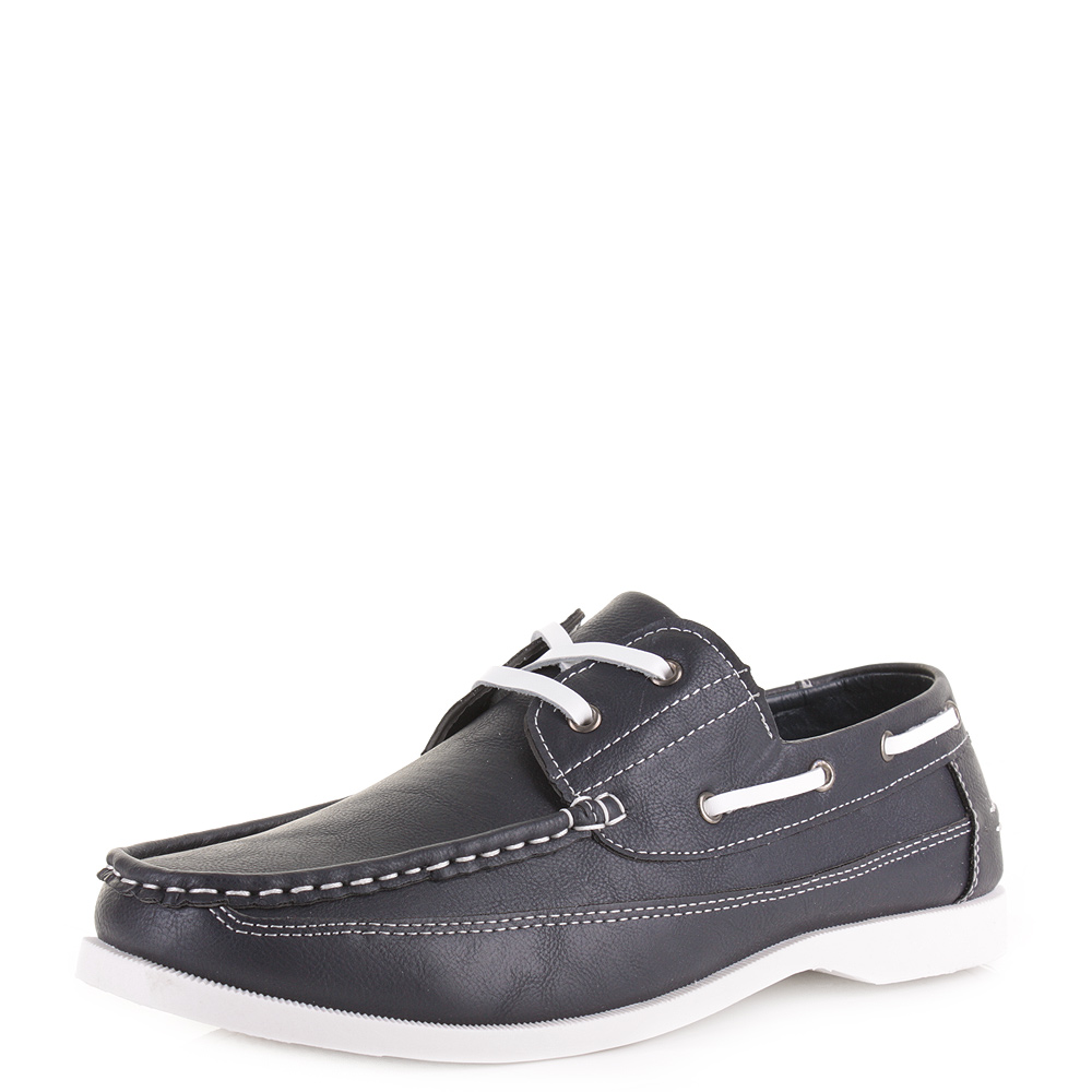 Mens Casual Leather Style Nautical Deck Boat Fashion Shoes Size Ebay