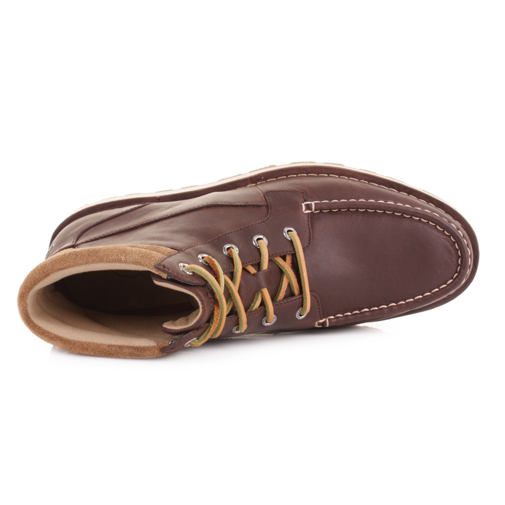 MENS SPERRY DOCKYARD CHUKKA BROWN LEATHER BOAT DECK SHOES ANKLE ...