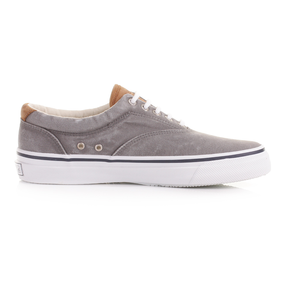 MENS SPERRY TOP-SIDER STRIPPER GREY LACE UP CASUAL DECK ...
