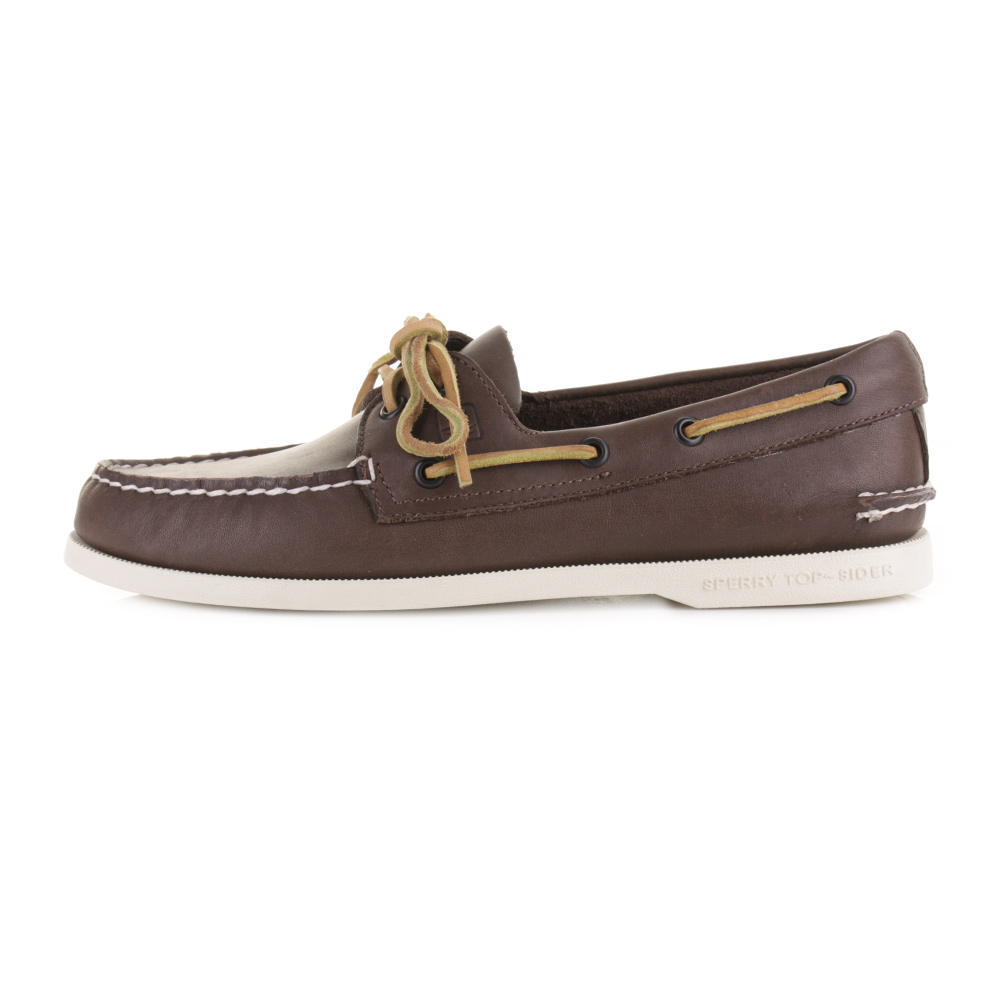 mens sperry authentic original classic brown leather boat