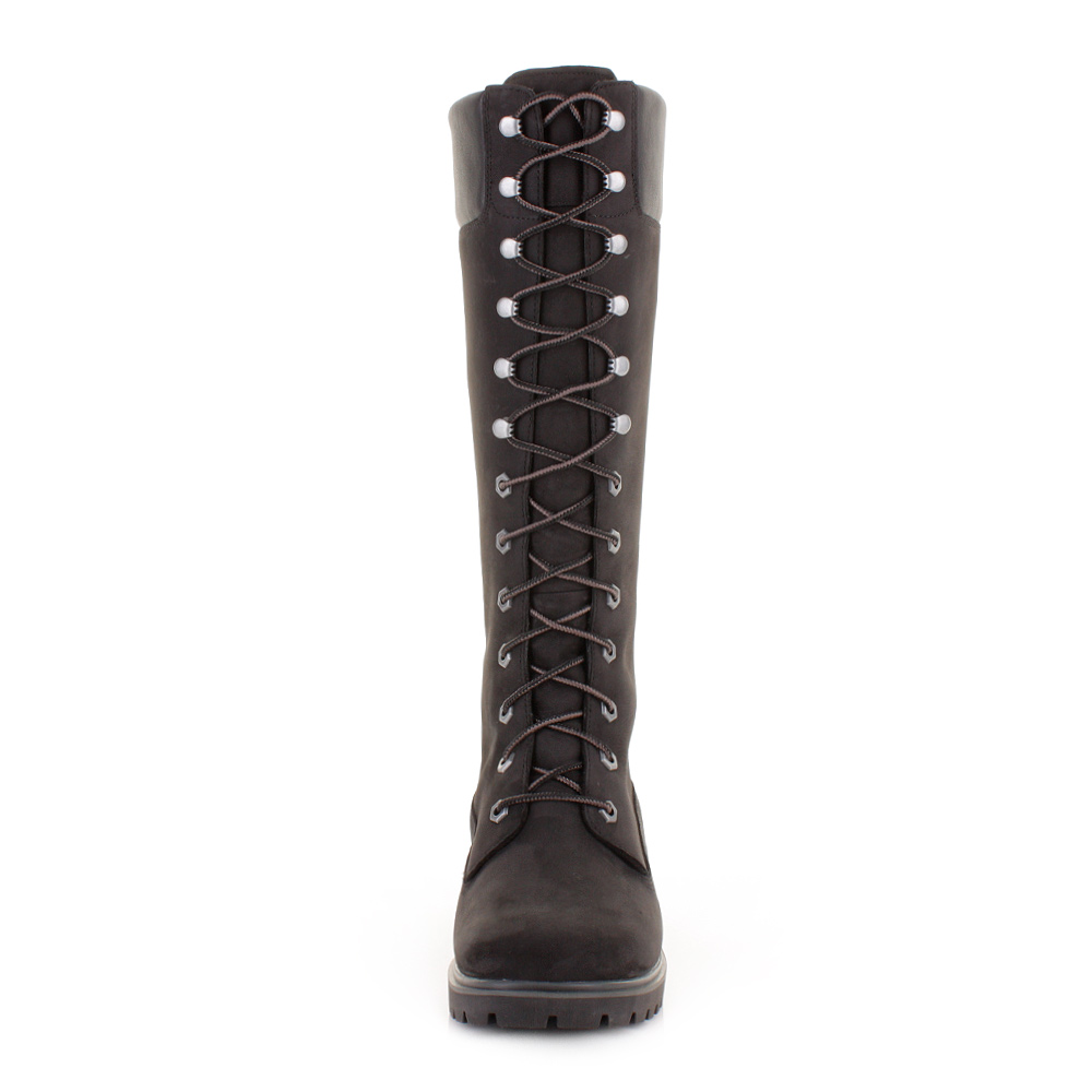 book of black timberland high heel boots in