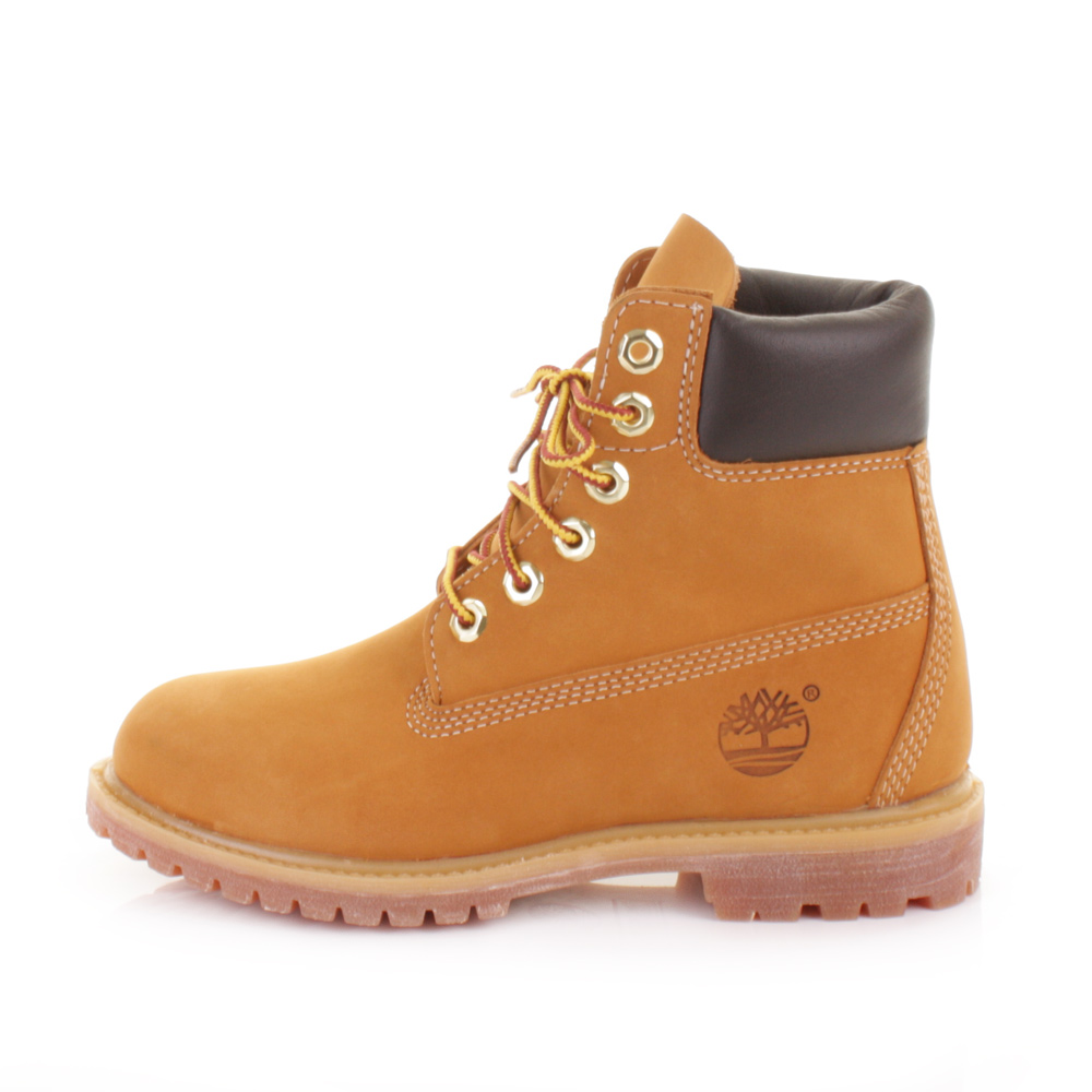 LADIES TIMBERLAND 6 INCH PREMIUM WHEAT NUBUCK LEATHER WATERPROOF BOOTS ...