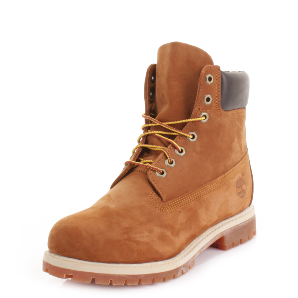 Mens Timberland Icon Premium 15 2cm Rust Brown Leather Ankle Boots