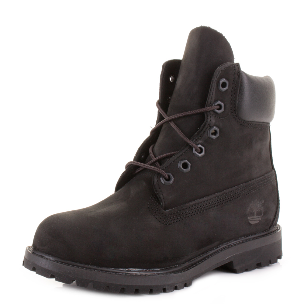 timberland black 6 inch premium waterproof lace up