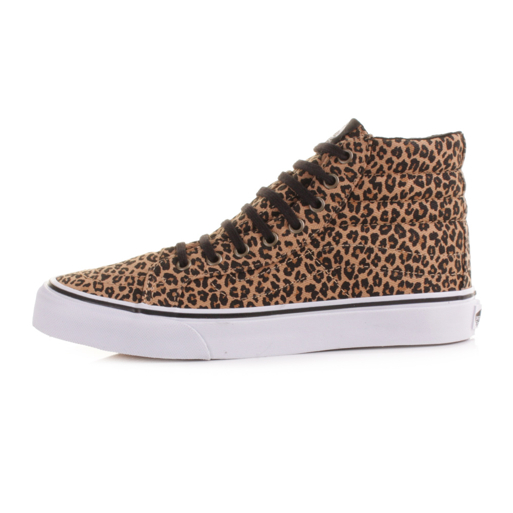 WOMENS VANS SK8 HI SLIM LEOPARD PRINT ANIMAL HIGH TOP TRAINER SHOES SIZE 3 8 | eBay