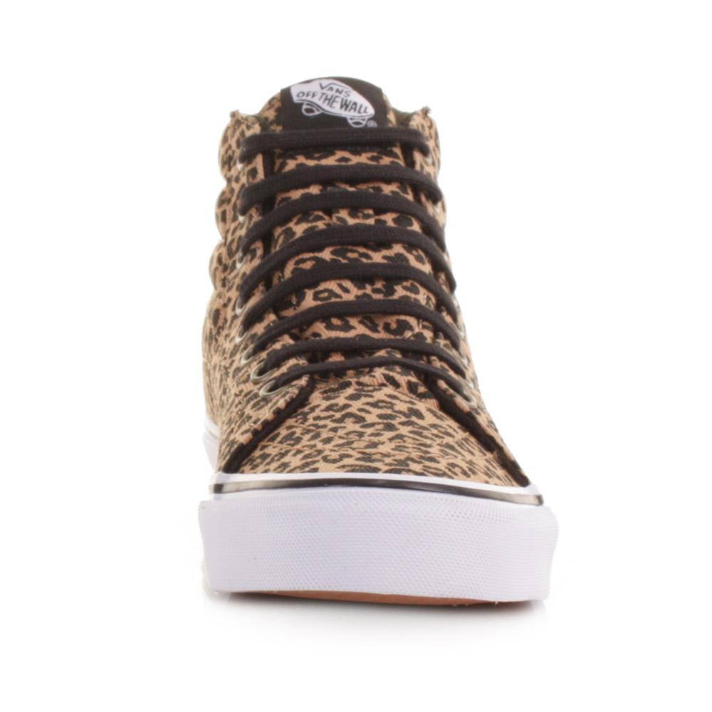 leopard vans sk8-hi slim hi-top sneaker women