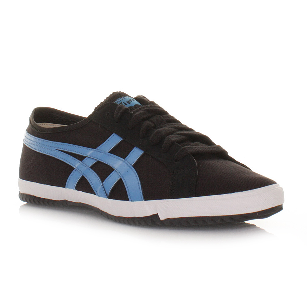 mens onitsuka tiger retro glide cv black blue casual trainers size 6