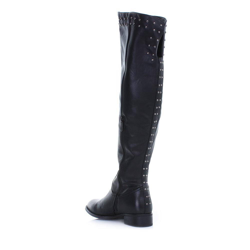 womens knee thigh high studded flat