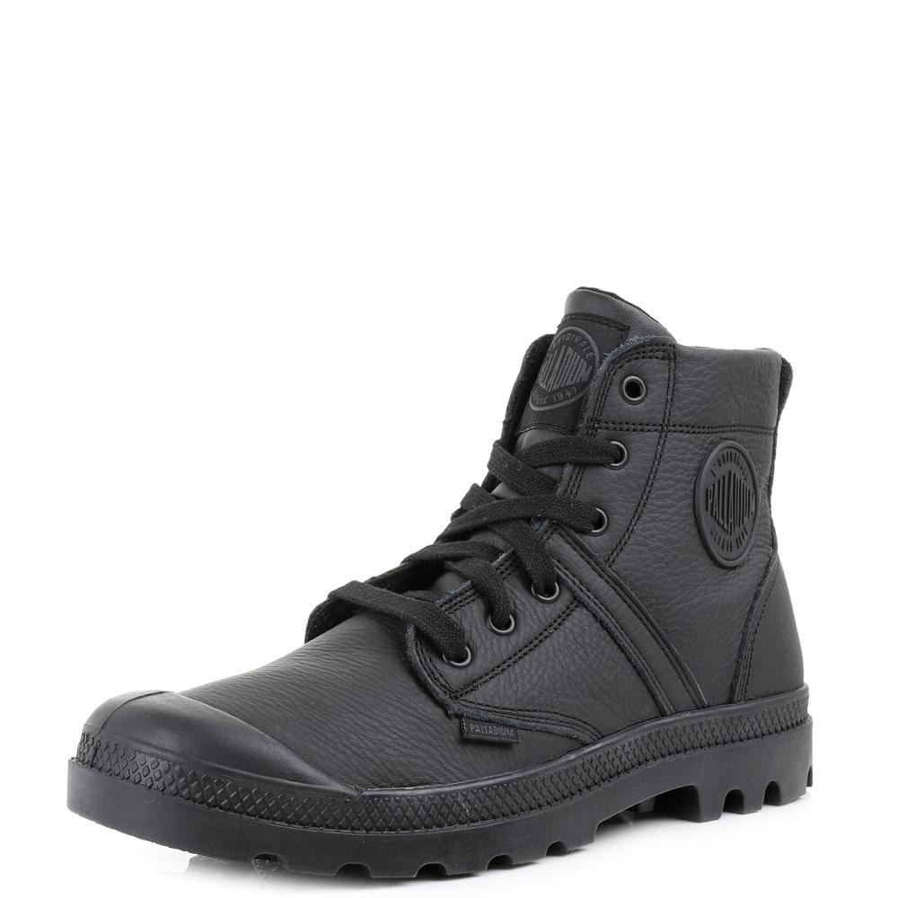 womens palladium pallabrouse vl black black leather