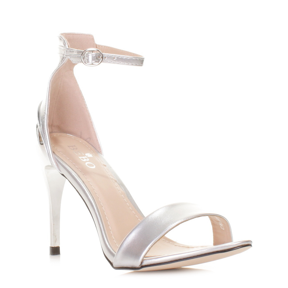 Silver Dress Sandals High Heel