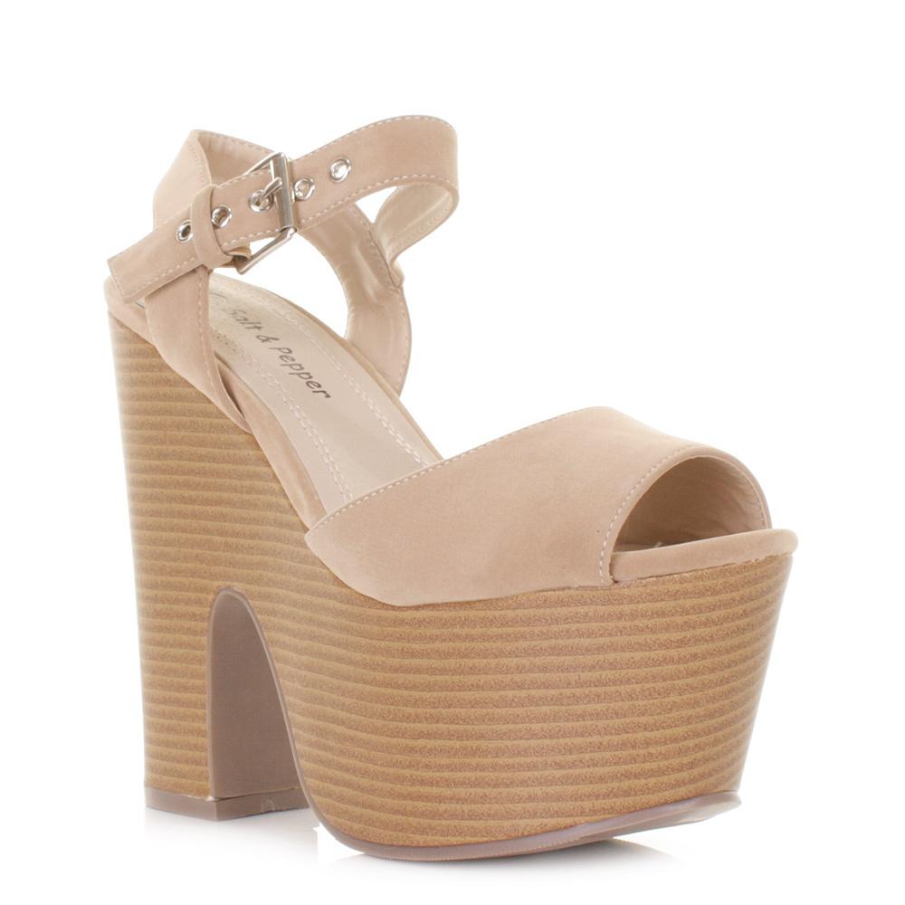 womens platform high heels peep toe sandals demi