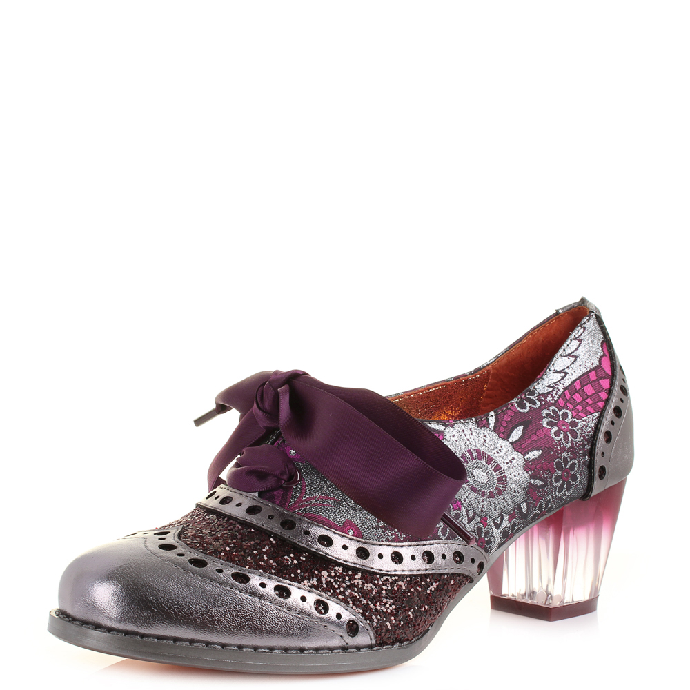 Womens Poetic Licence Corporate Beauty Silver Pink Lace Up ...