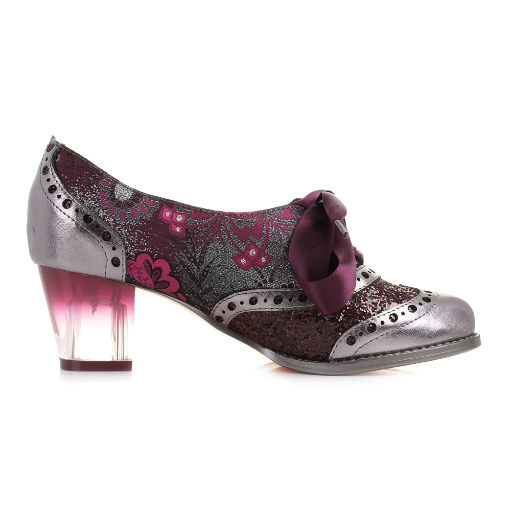 womens poetic licence corporate silver pink lace up