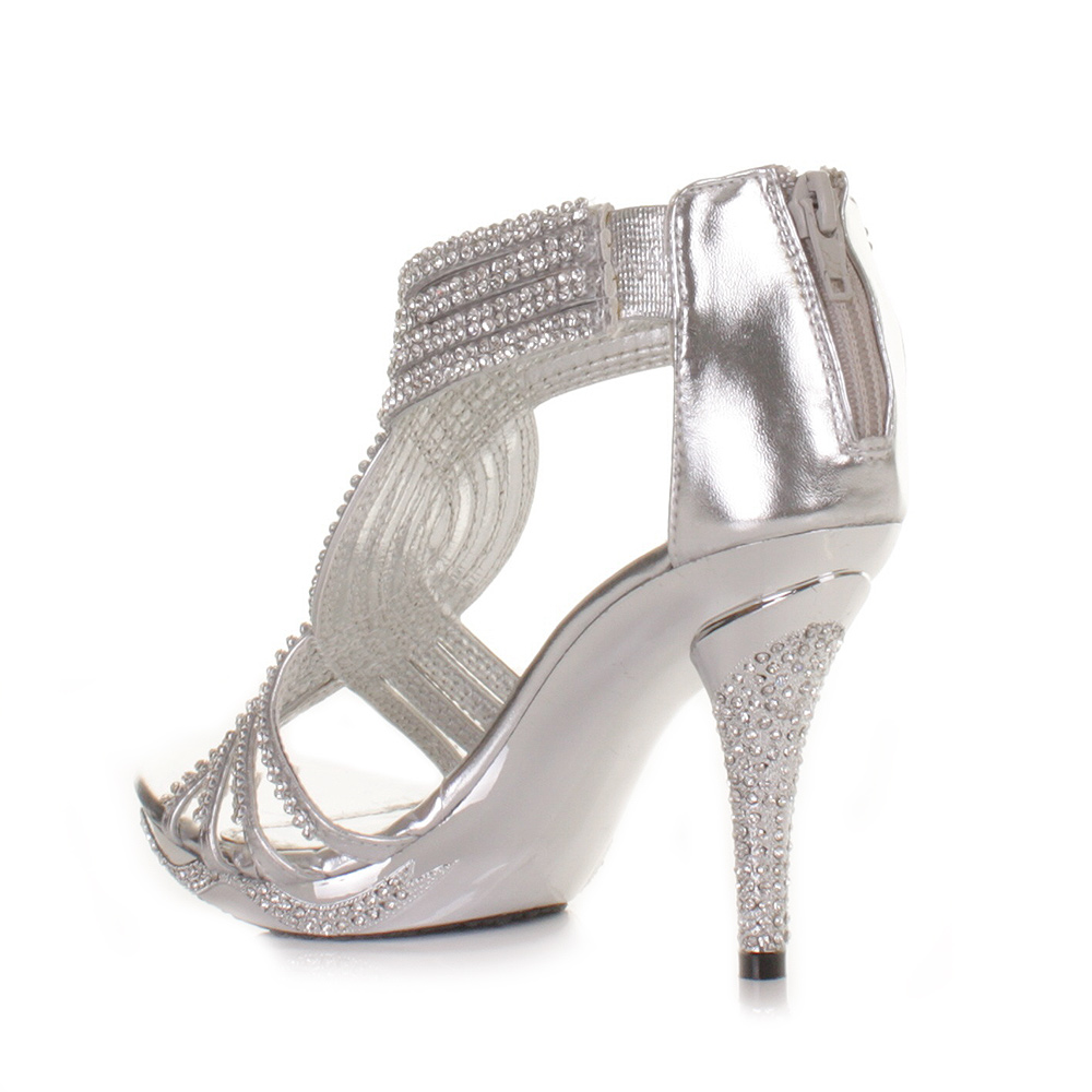 high heels for prom silver - photo #11